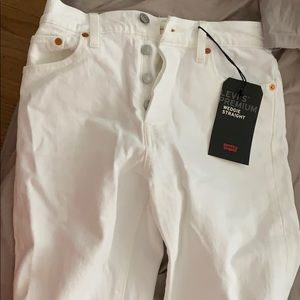 Levi's size 26 wedgie fit jeans - white